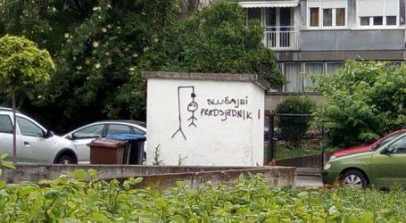 TREŠNJEVKA: Grafit protiv predsjednika Milanovića