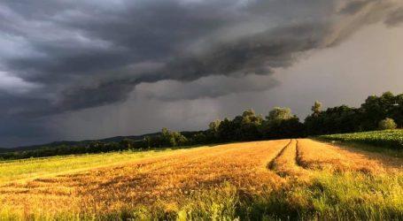 PRIPREMITE SE: Sutra se očekuje nevrijeme, najgore se predviđa u Slavoniji