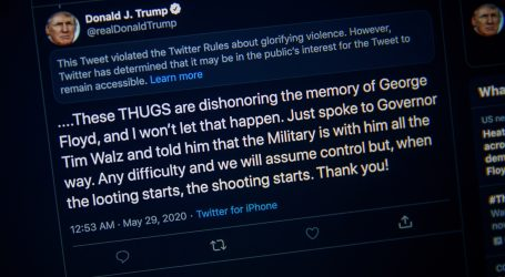 Twitter ponovno upozorio na neprimjeren Trumpov tvit