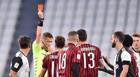 Juventus u finalu Kupa, utakmicu obilježio crveni karton Ante Rebića