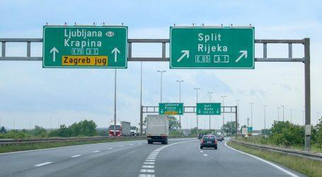 Kolnici mjestimice mokri i skliski, prometna nesreća na autocesti A3