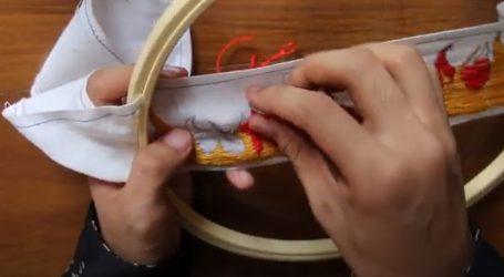 Vezenjem ukrasite maramu, traku ili povez