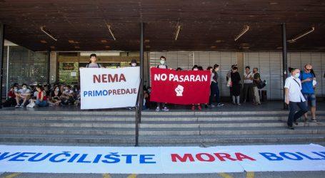 AKCIJA STUDENATA: 'Bella Ciao' i pljesak za suspendiranu dekanicu Filozofskog fakulteta