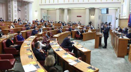 Rasprava o Zakonu o obnovi Zagreba u Saboru, na prijedlog zakona rekordne 62 pojedinačne rasprave