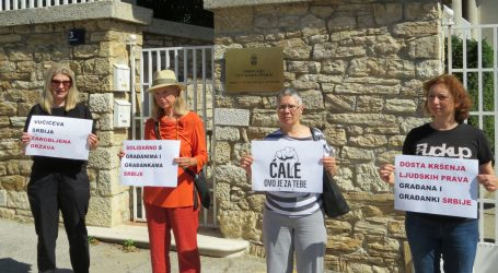 """Podrška prosvjedima u Srbiji: """"Protiv igranja ljudskim životima i policijske  brutalnosti"""""""