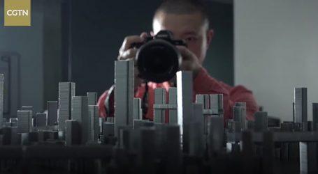 Kinez od metalnih spajalica izradio maketu grada