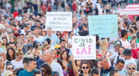"""Prosvjednici protiv protuepidemijskih mjera: """"Mjere ograničavaju slobodu, dosta je"""""""