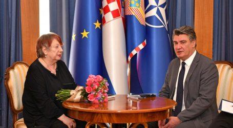 Predsjednik Milanović primio povjesničarku umjetnosti Snješku Knežević