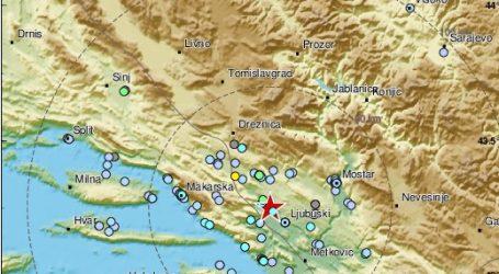 Potres u Hercegovini 3,5 stupnja Richtera osjetio se u Dalmaciji