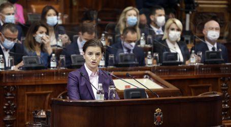 """Srbijanska premijerka najavila šest ciljeva i predstavila """"vladu kontinuteta"""""""