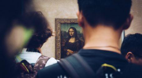 Kredom na pločniku naslikao portret Mona Lise