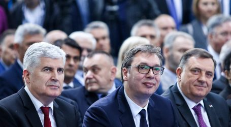 Čović i Dodik na neformalnoj večeri s Vučićem u Beogradu