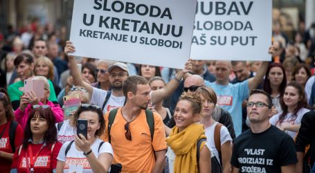 """RIJEKA: Održava se """"Festival slobode"""" u znak prosvjeda protiv Nacionalnog stožera"""