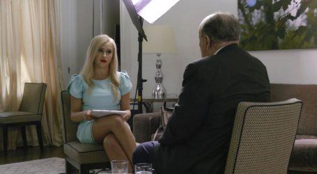 Baron Cohen je bio zabrinut za Mariu Bakalovu tijekom intervjua s Giulianijem