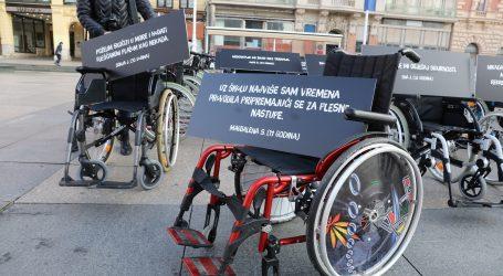 Akcija MUP-a: Stotine invalidskih kolica kao upozorenje na sigurnost u prometu