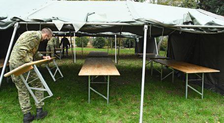 Hrvatska vojska postavlja šatore kod Akademije likovnih umjetnosti u Zagrebu