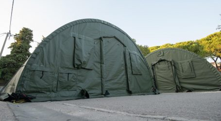 Hrvatska vojska postavila šatore za KB Dubrava i varaždinsku bolnicu