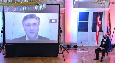 """Plenković na virtualnoj sjednici Grada Varaždina:  """"Veliki je pritisak na zdravstveni sustav"""""""