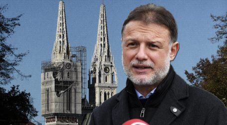 """Državni vrh na misi: Jandroković: """"Tu sam jer sam vjernik i zato što su ovo prve mise u Katedrali nakon potresa"""""""