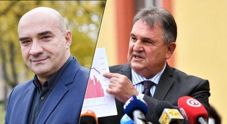 """Lauc odgovorio Čačiću: """"Rezultati koje je prikazao govore da je samo u zadnja dva mjeseca u tvornicama i školama u Varaždinu zaraženo najmanje 30%"""""""