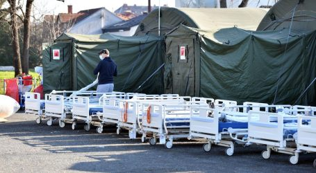 Urušio se šator pred varaždinskom bolnicom