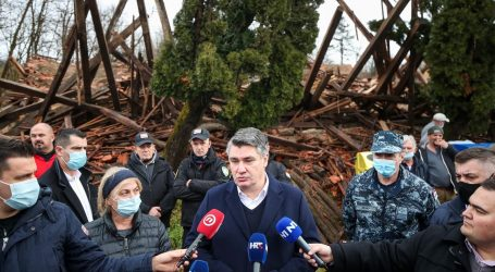 Milanović u Petrinji zahvalio vojnicima koji pomažu postradalima