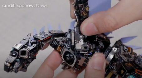 Vješti inženjeri pretvorili pametne telefone u mehaničkog zmaja