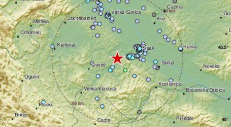 Novi potres magnitude 2,9 na sisačkom području