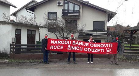 Radnička fronta u Glini: 'Narodu Banije obnoviti kuće – Žiniću oduzeti'