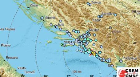 Potres magnitude 4,1 pogodio dubrovačko područje
