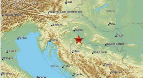 Noćas potres kod Siska jačine 3.7 prema Richteru