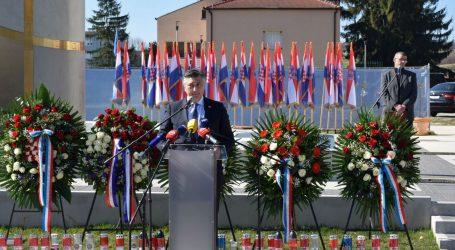 """Plenković: """"Branitelji u Pakracu prije 30 godina ispisali su povijest"""""""