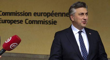 """Plenković: """"Hrvatska je naručila dovoljno cjepiva, došao sam u Bruxelles vidjeti zašto kasni isporuka"""""""