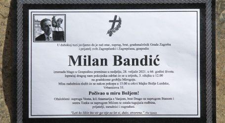 Posljednje pripreme za sprovod Milana Bandića: Govor će držati i patrijarh Porfirije, pjevat će klapa HRM i Đani Stipaničev