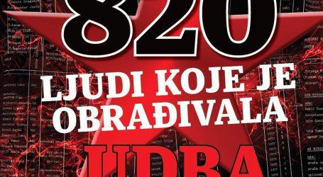 'KNJIGA OBRADA' SDS-A: Službeni popis 820 ljudi koje je obrađivala UDBA