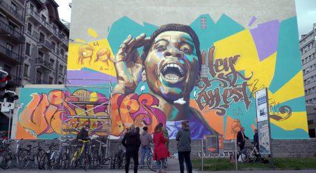 Afrička umjetnica Zeinixx oslikala veliki zid u Ženevi
