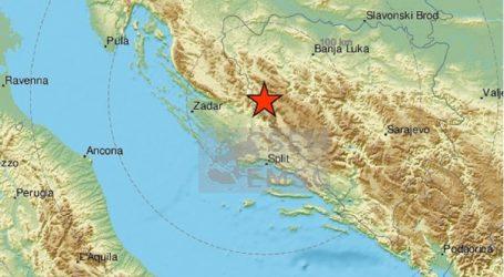 Hrvatska se ponovno trese: Potres s epicentrom kod Vrlike magnitude 3.4 po Richteru
