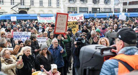 """Prosvjedi protiv mjera u pet hrvatskih gradova: """"Posljedice mjera su puno veće od ove kvazi bolesti"""""""