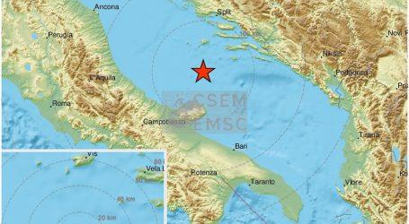 Potres na Jadranu: Zatreslo je u blizini otoka Visa, procjenjuje se 3,8 po Richteru