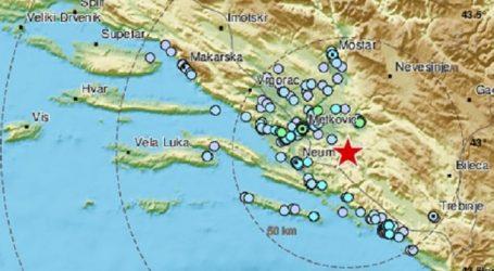 Potres od 3.3 po Richteru kod Stona, osjetio se i u Dalmaciji
