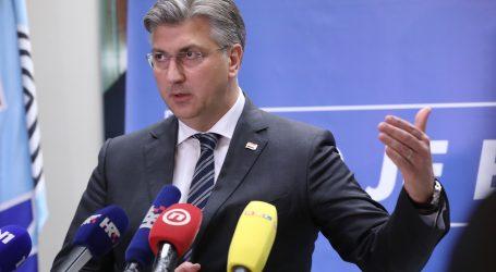 """Plenković: """"Nastavljamo naknade za očuvanje radnih mjesta"""""""