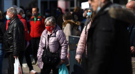Prosvjed protiv mjera zatvaranja u Ljubljani