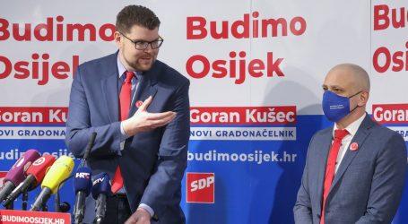 """Grbin u Osijeku predstavio SDP-ovog kandidata za gradonačelnika: """"Treba razbiti HDZ-ovu korupcijsku vertikalu"""""""