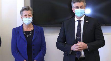Plenković ugostio povjerenicu EK za unutarnje poslove Ylvu Johansson, razgovarali o migrantima i Schengenu