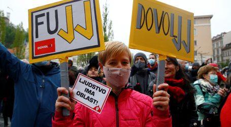 Masovni prosvjed u Ljubljani protiv vlade Janeza Janše