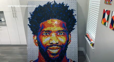 Programer izradio portret košarkaša Joela Embiida od 768 Rubikovih kocki
