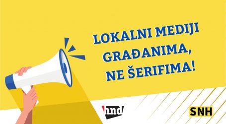 HND i SNH pokrenuli kampanju 'Lokalni mediji građanima, ne šerifima'