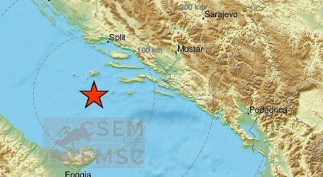 Novi potres jačine 3.2 po Richteru zatresao Dalmaciju, epicentar nedaleko od Visa
