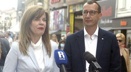 Biljana Borzan u Rijeci dala podršku Marku Filipoviću