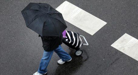 U većem dijelu Hrvatske kiša, vjetrovito na Jadranu